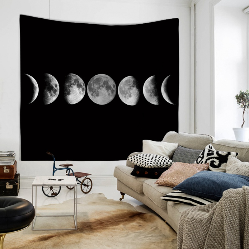 Oon Eclipse Changing Tapestry Galaxy Printed 3D Art Carpet Landscape Tapestry Home Decor Wall Hanging Decorative Tapestry