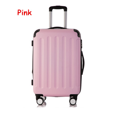 Universal wheels trolley luggage password box luggage trolley female 20 travel bag luggage,girl lovely abs case travel luggage 2024inch universal wheels luggage abs mute rolling travel bag password lock trolley suitcase colorful hand pull box