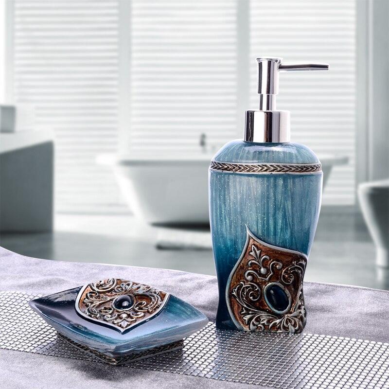 La salle de bains pièce titulaire Creative désinfectant pour les mains bouteille résine dentifrice distributeur de boîtes À Savon de Toilette coccinelle accessoires