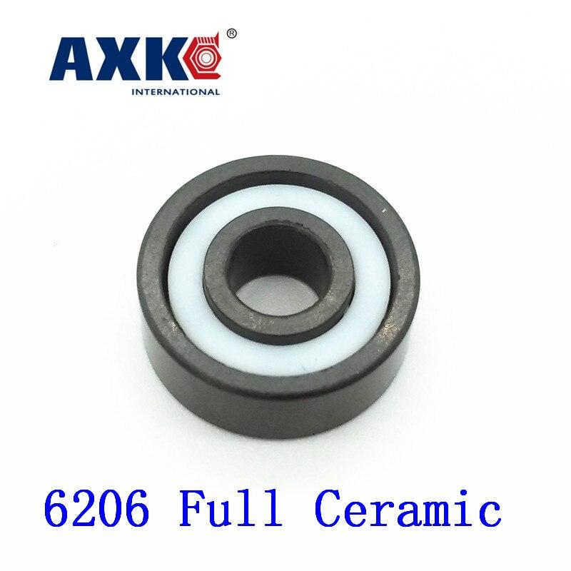 Axk 6206 Full Ceramic Bearing ( 1 Pc )30*62*16 Mm Si3n4 Material 6206ce All Silicon Nitride Ceramic Ball Bearings nobrand 30 154 62 0