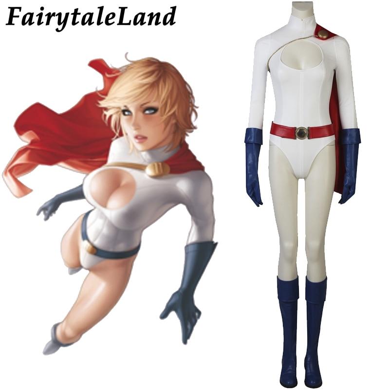 Power Girl Kara Zor-L Costume Cosplay Nightwing Halloween Ladies Jumpsuit Suits