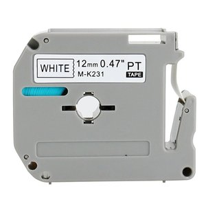 Image 2 - 20PK Compatible brother M K231 MK231 MK 231 MK 231 black on white 12mm laminated for P touch printer