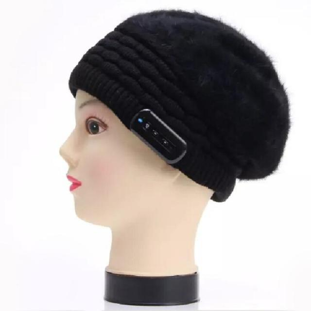 Wireless Bluetooth Headphones Music Hat Smart Cap Headset Soft Warm Beanie Winter Hat Headset with Mic for Women