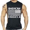 НАМ Стиль Мужчины Топы мужчины Спортивная clothing gymshark золотых О-Образным Вырезом хлопок мышцы верхней части бака для Мужчин Без Рукавов футболки