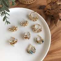Pendientes de aro coreano para mujer Pendientes de aro Retro en forma de C Pendientes regalos de joyería para oreja Brincos de color sólido