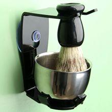シェービングブラシセットシェービングかみそりアナグマ毛シェービングスタンドホルダー髭シェービングキット石鹸ボウルクリーニングブラシ
