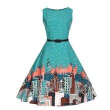 e09eae815d6 Feitong 2019 Women Dress Vintage casual Fashion Vestidos Verano Summer Sexy  Ladies Princess Print city Dresses
