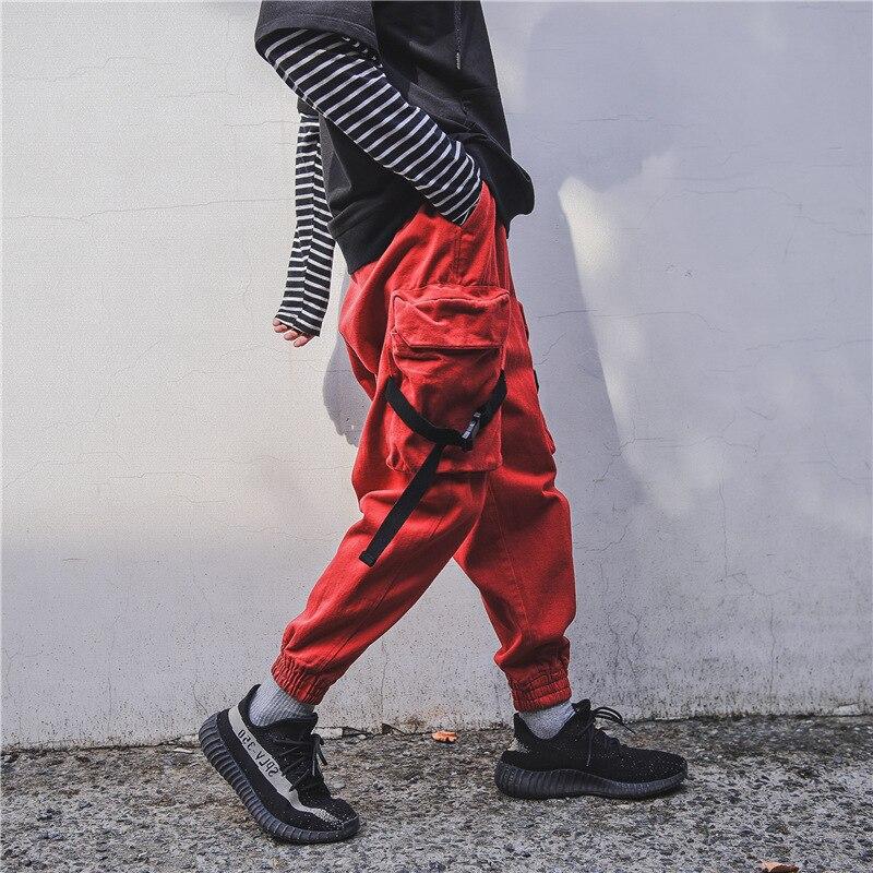 Casual Élastique Cargo red Automne Pantalons blue Harlan Piste Survêtement Mâle Épais Joggeurs Aolamegs Poche khaki Hommes Mode De Pantalon Taille Black aRxn8P
