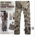 9 Tamanhos de boa qualidade calças de camuflagem dos homens calças de carga calças do exército do camo calças multi-bolsos
