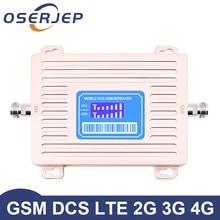 Gorący nowy przyjazd Oserjep 2G 4G wyświetlacze LCD GSM 900 4G LTE 1800 Repeater GSM 1800mhz wzmacniacz sygnału komórkowego 65dB dwuzakresowy