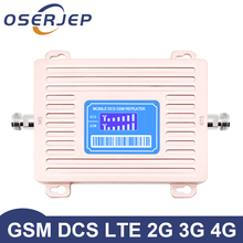 HOT New Arrival Oserjep 2G 4G LCD Displays GSM 900 4G LTE 1800 Repeater GSM 1800mhz Mobile Signal Booster 65dB Dual Band