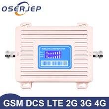 ホットな新到着oserjep 2グラム4グラムlcdディスプレイgsm 900 4 4g lte 1800リピータgsm 1800mhz携帯信号ブースター65dBデュアルバンド