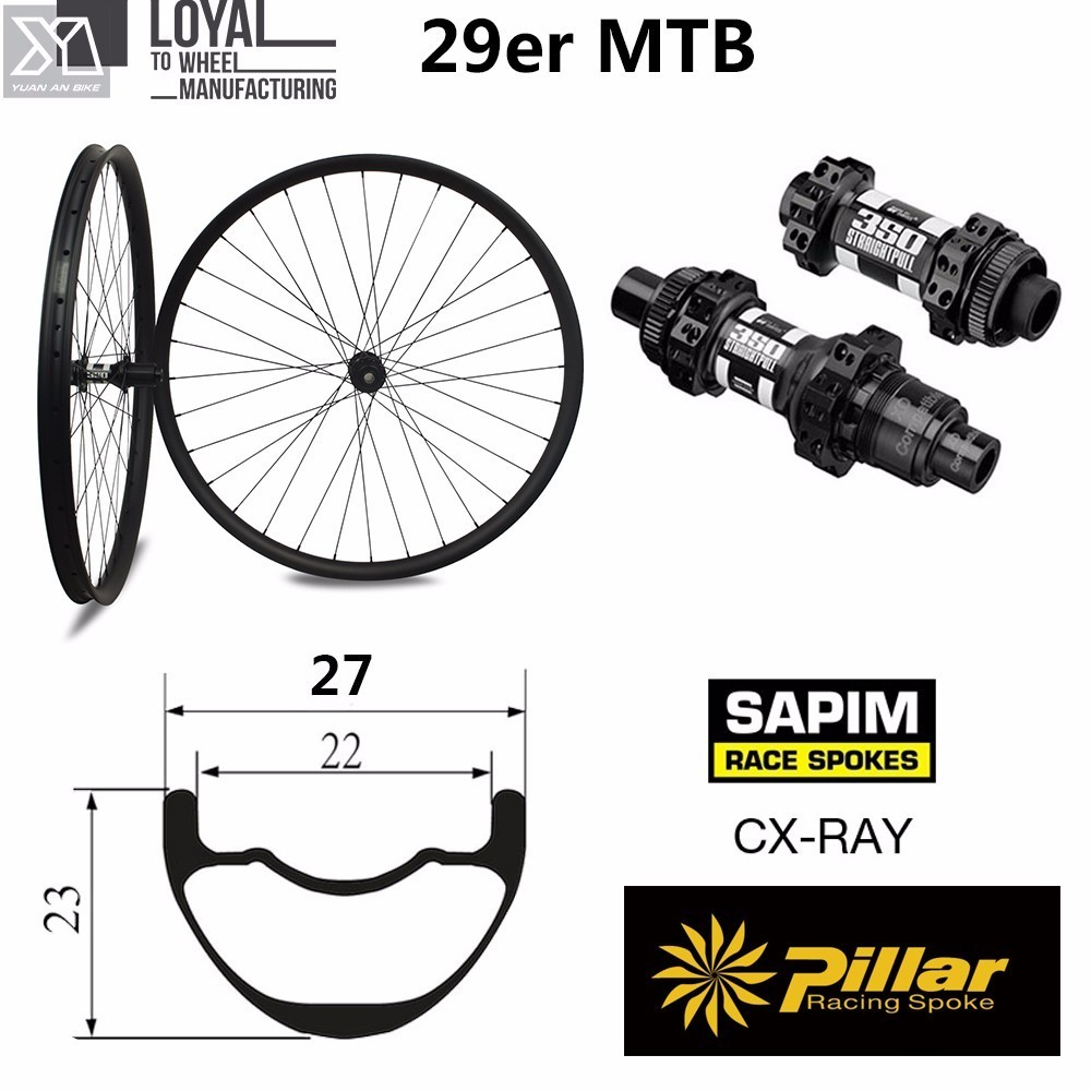 MTB 29er hookless carbon wheels 28mm Width 22mm depth carbon Mountain bike wheels with DT350 MTB hub 27 5er mtb wheels width 35mm carbon mtb wheels novatec 791 792 thur axle 650b mountain bikes bicycle mtb wheels