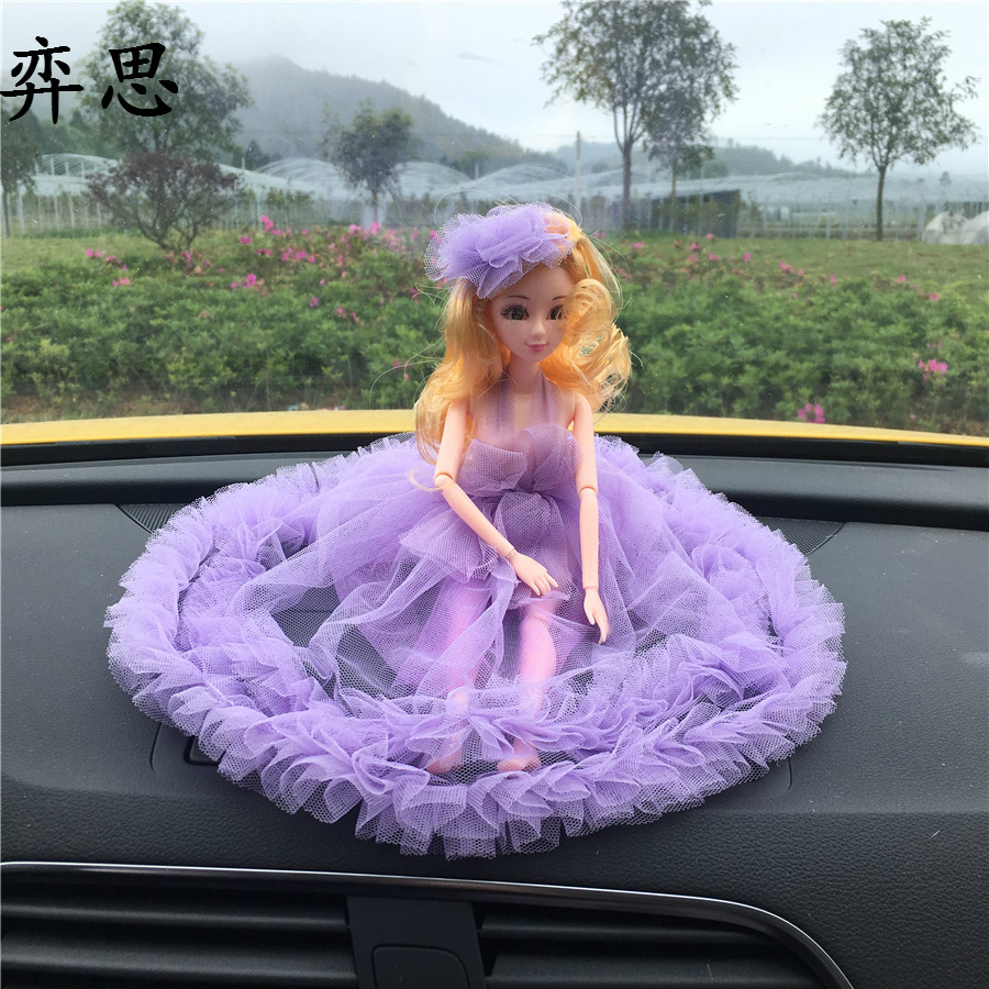 The New Cute Doll Lace Ornaments Las Fashion Decoration Car Interior Toys Styling Dashboard In From Automobiles