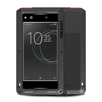 360 Degree Full Body Case For SONY Xperia XA1 Ultra Case Shockproof Metal Armor With Glass Cover For Xperia SONY XA1 Case capa
