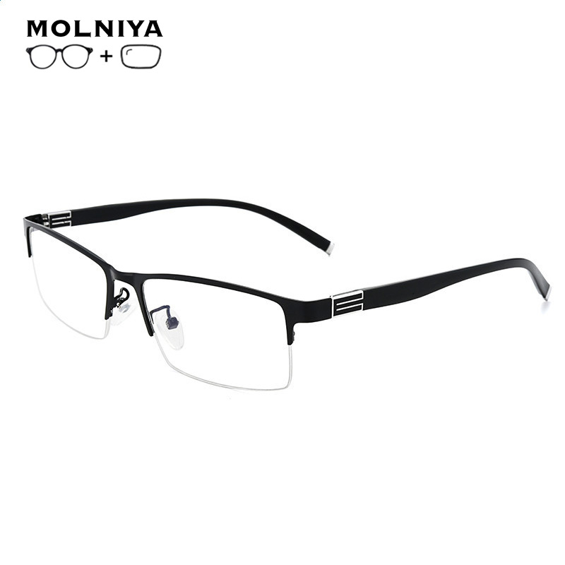 Titanium Alloy Prescription Glasses Frame Men Ultralight Square Myopia Prescription Eyeglasses Metal Full Optical Frame Eyewear
