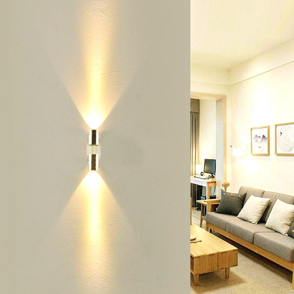 LED interior lámpara de pared 2 granos 2 W 6 W aluminio astigmatismo de pared Sconce para pasillo foyer decoración JQ