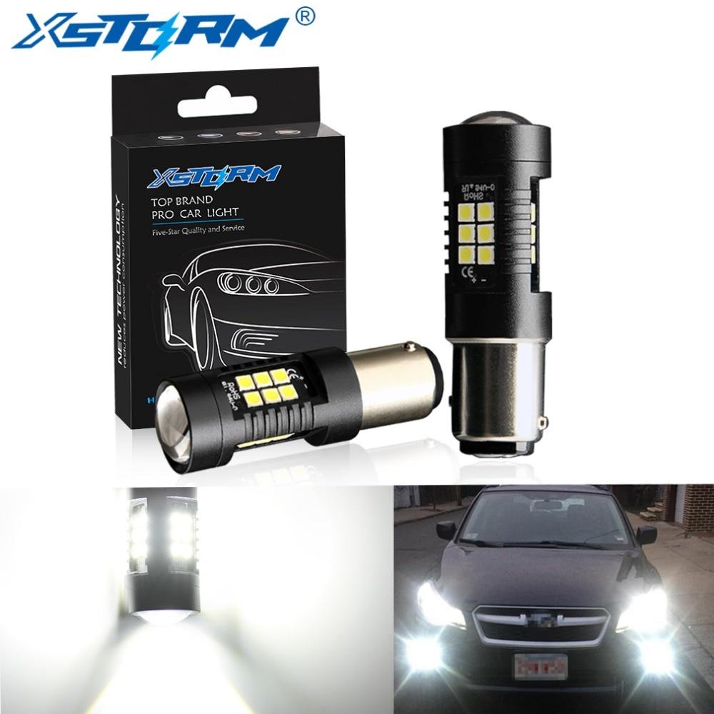2Pcs 1156 BA15S P21W LED BAU15S PY21W BAY15D LED Bulb 1157 P21/5W R5W 21pcs 3030SMD Auto Lamp Bulbs Car LED Light 12V - 24V