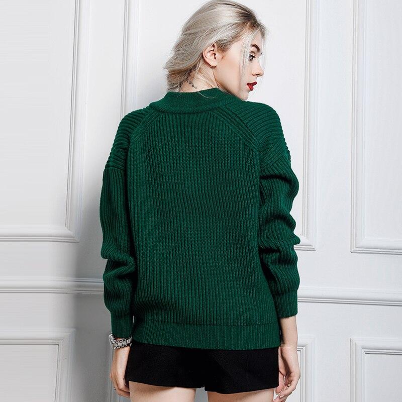 D'hiver Pull Gamme cou Haut Lâche En De Femmes Mode Tricoté Luxe V Marque Laine Kenvy q0xaRCwUx