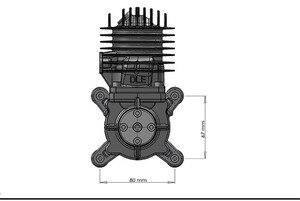 Image 5 - Dle55 55cc dle dle الأصلي جديد واحد اسطوانة 2 Strokes البنزين/بنزين محرك ل rc طائرة
