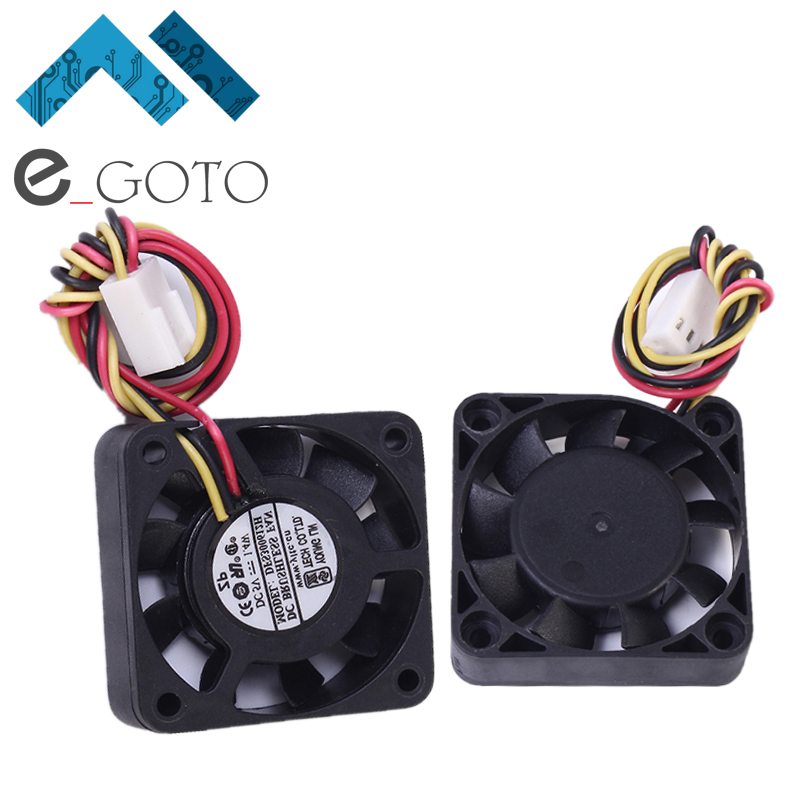 DC 5V 1.4W Three Wire Silent Fan 4010 I Type Portable Computer Cooler Fan Heat Sink 40x10mm Laptop PC CPU Cooling