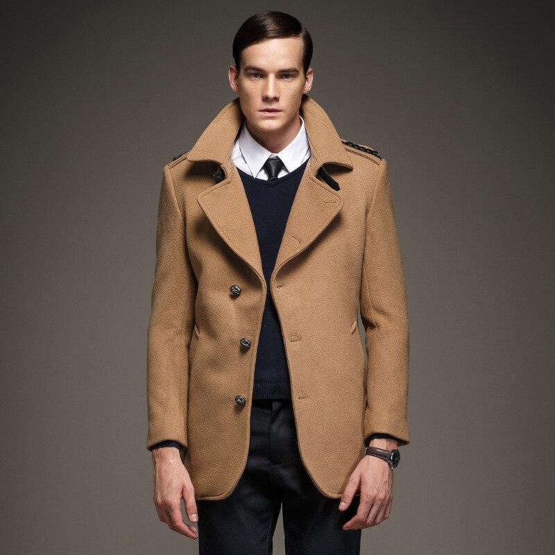 mens pea kerry simon coat woolen coat male peacoat men 39 s wool coat manteau homme in wool. Black Bedroom Furniture Sets. Home Design Ideas