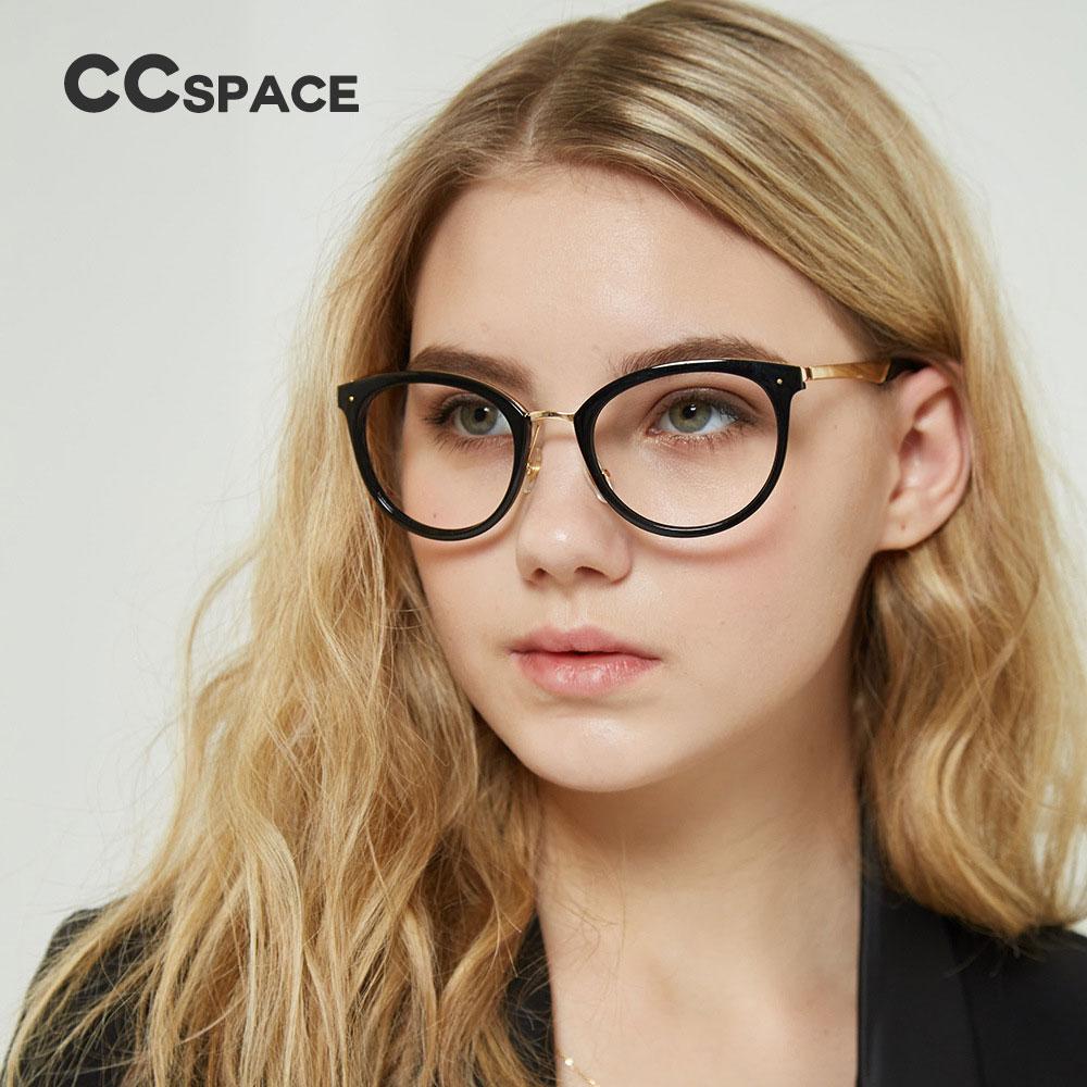 CCSPACE 45545 Ladies Round Matal Glasses Frames Men Women Brand ...