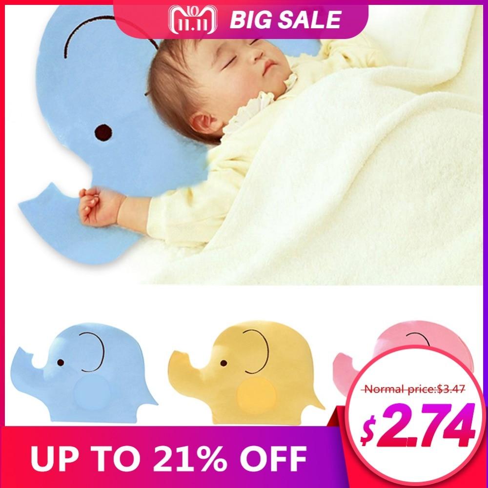 купить Baby head protectio Pillow Infant Newborn Soft Cotton Cute Elephant Shape Anti-rollover Head Pillow Head Protection of baby недорого
