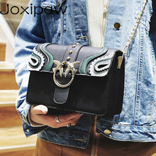 Carved Flowers Women Shoulder Bags High Quality Chain Messenger Bag
