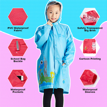 Raincoats Children Poncho-Sleeves Light-Weight Impermeable Kids QIAN Eco-Friendly 3-9-Years-Old
