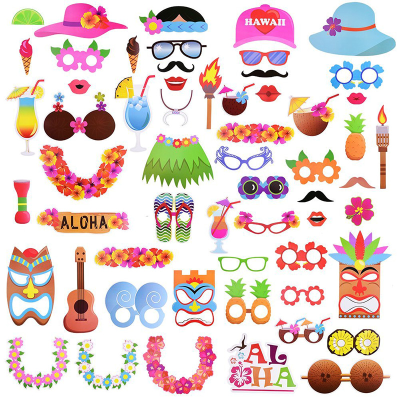 2019 fun party decoration photo booth props hawaii photo booth props rh dhgate com