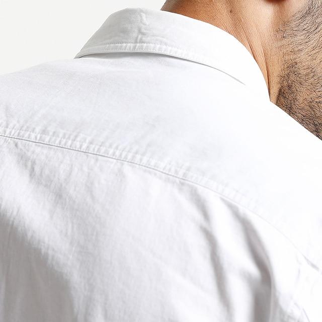 Casual pocket 100% cotton slim fit high quality Shirt 3