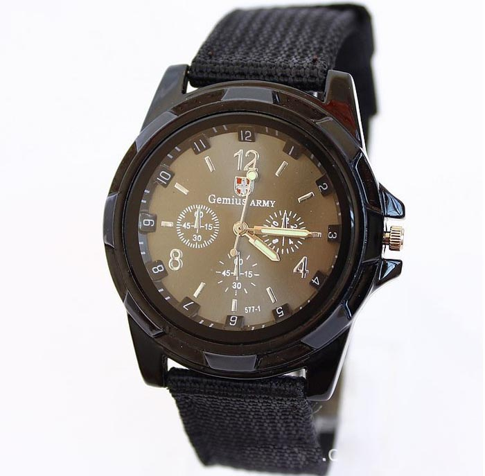 Man watch Gemius Army Racing Force Military Sport Men Officer Fabric Band Watch brand luxury Male clock relogio Dropshipping