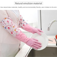 Warm Dishwashing Glove Durable Waterproof Household Glove Water Dust Stop Cleaning Rubber Glove
