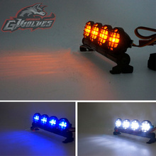 GWOLVES 5mode Strobe brightness flash LED Light for 1/10 1/8 Trax Tamiya HSP HPI Monster Short Truck Rally Crawler rc parts bearing for tamiya blackfoot frog monster beetle