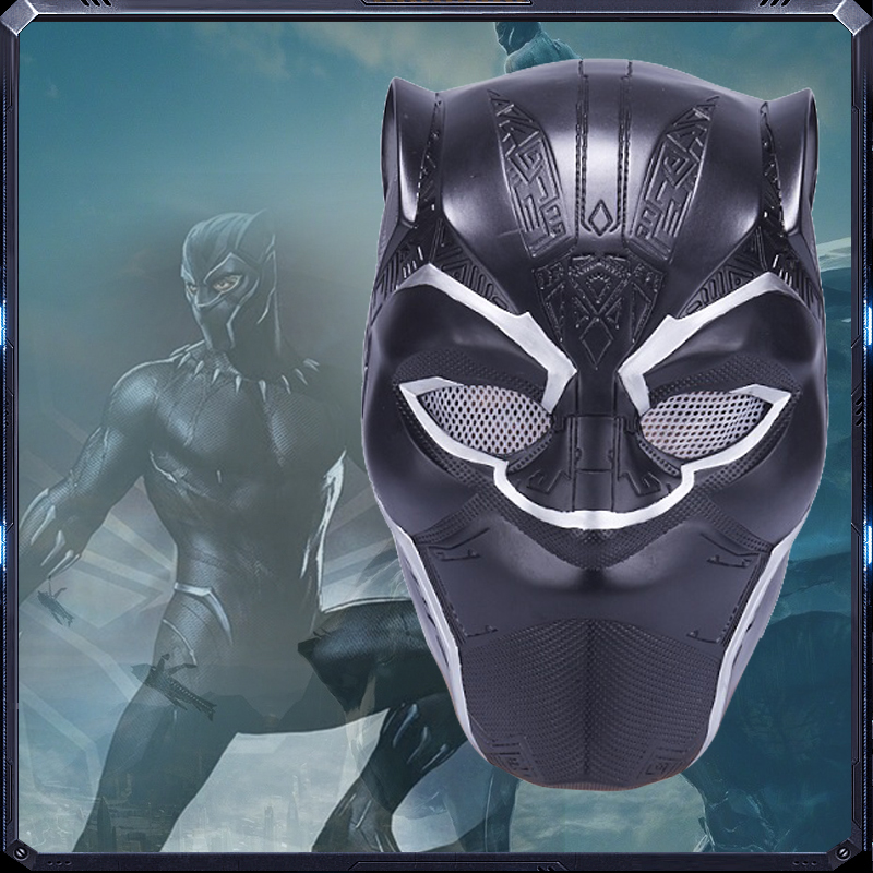 2018 Avengers Infinity War Black Panther Helmet Carnival Halloween Mask Superhero Black Panther Cosplay Plastic Head Mask