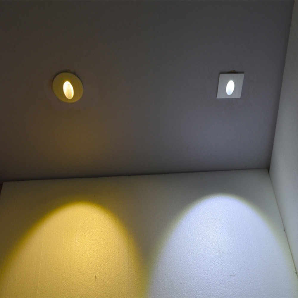 10pcs Modern embedded LED stair light wall lamp 1w 3w aluminum Recessed in led step lamp for homes, runways,basements,stairways