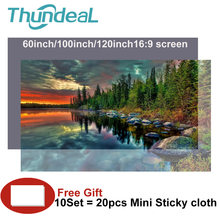 High Brightness Reflective Projector Screen 60 100 120 inch 16:9 Fabric Cloth Projector Screen for Espon BenQ XGIMI Home Beamer(China)