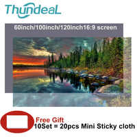 High Brightness Reflective Projector Screen 60 100 120 inch 16:9 Fabric Cloth Projector Screen for Espon BenQ XGIMI Home Beamer