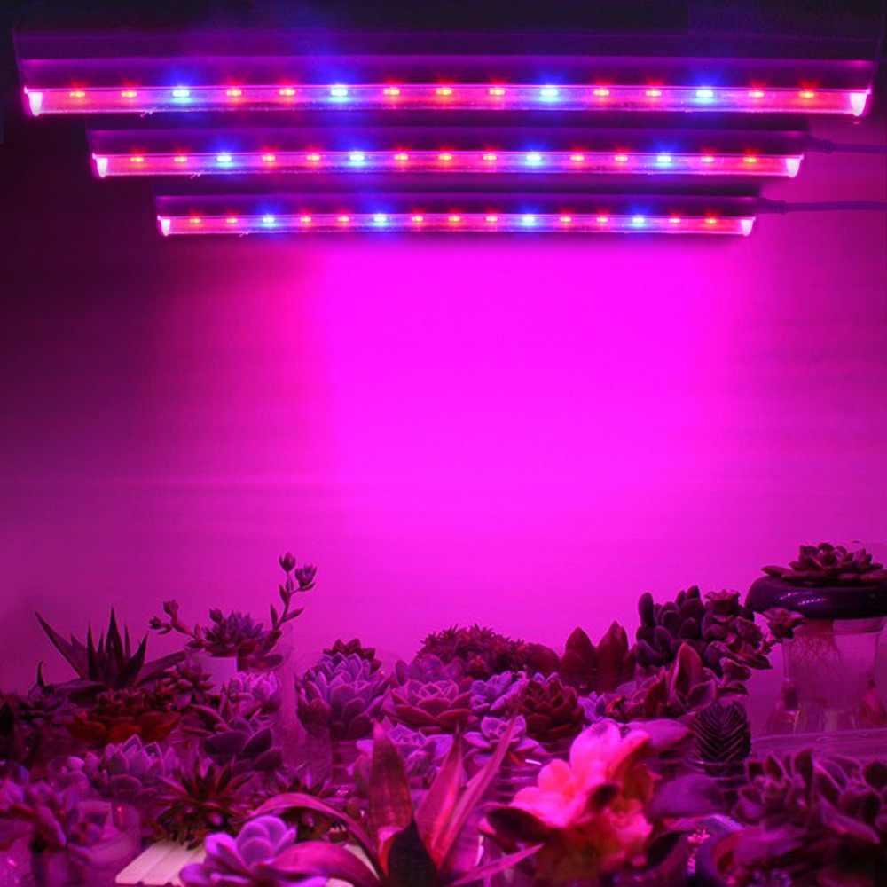 Diy Full Spectrum T5 Tube Led Grow Light Bulb Indoor Seeds Flower Plants Grow Tent Lamp 110 220v Hydroponics Greenhouse Lighting