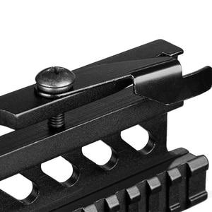 Image 3 - Tattico Picatinny Del Tessitore AK Serie Side Rail Mount Rapido QD 20mm picatinny Detach Doppia Laterale AK Scope Sight Monte staffa Rifle