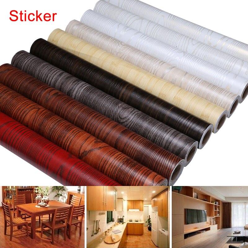 60 cm x 5 Mt Praktische Möbel DIY Dekor PVC Selbstklebende Aufkleber Hause Wohnzimmerschrank Tabelle Wasserdicht Aufkleber E2S