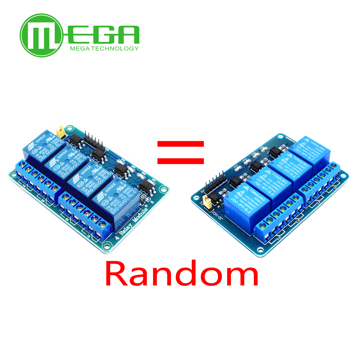 10pcs 4 Channel Relay Module 4-channel Relay Control Board With Optocoupler. Relay Output 4 Way Relay Module