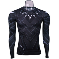 Black Panther 3D Printed T Shirts Captain America Civil War Tee Long Sleeve Cosplay Halloween Costumes