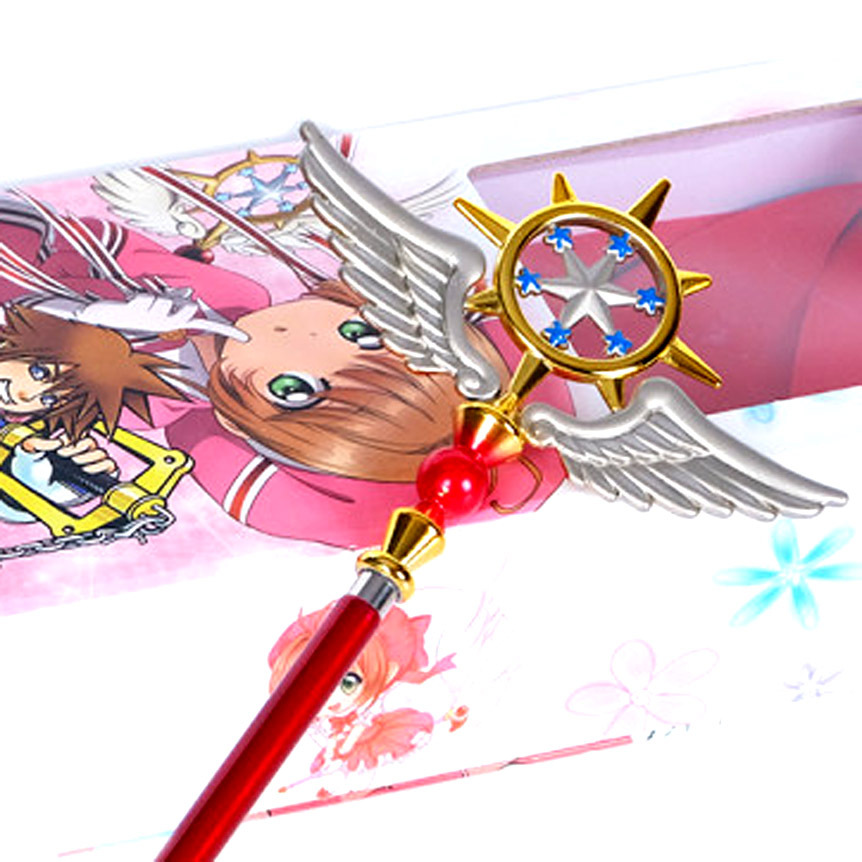 Costume Props Telescopic Metal Material Magic Wand Sakura Kinomoto Three Style Cardcaptor Sakura Cosplay Props Maximum Length About 20 In Novelty & Special Use