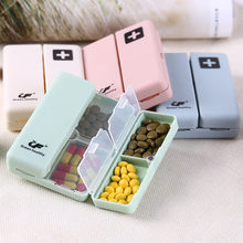 Portable Medicine Case Foldable Magnetic Supplement Pill Box Organizer Medicine Tablet Storage Case Container Dispenser Splitter(China)