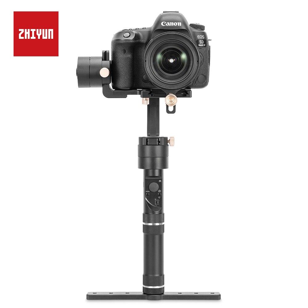 ZHIYUN Guindaste Mais 3 Eixo Cardan Pesados 2.5 KG de Carga Útil para A Maioria das DSLR e Câmera Mirrorless SONY, CANON Estabilizador Handheld