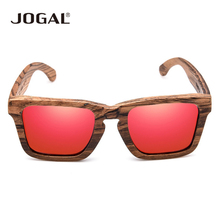 JOGAL New fashion Products Men Women Glass Bamboo Sunglasses au Retro Vintage Wood Lens Wooden Frame Handmade