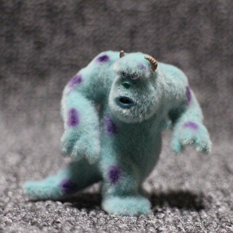 Exclusive Flocked Toy Furry Action Figure 5.5cm Monsters Inc James -P- Sullivan Decorative Toy PVC Figure Model Collectible Toy