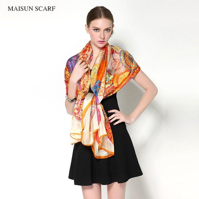 Big Size 180X110cm High Quality Spring Pure Silk Scarf Women New Style Fashion Ladies Long Shawl
